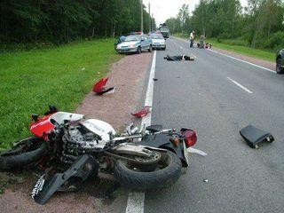 В Псковской области мотоциклист погиб на месте ДТП