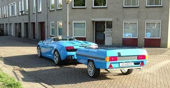 В сети появились фото Lamborghini с прицепом из Нидерландов