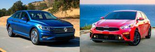 Фото: Volkswagen Jetta иKia Cerato, источник: Volkswagen, Kia