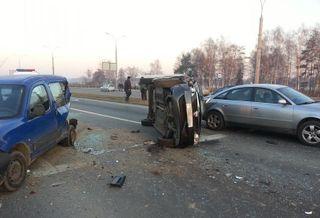 В Бресте произошло ДТП с участием 4-х машин