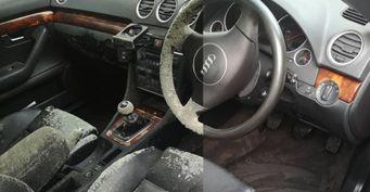 Плесень всалоне автомобиля: Невероятную чистку Audi показал детейлер