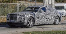 Фотошпионы запечатлели на видео Rolls-Royce Phantom нового поколения
