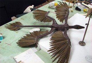 В Китае нашли огромного четырехкрылого динозавра