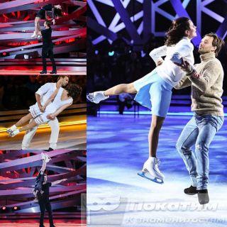 Дмитрий Сычёв выполняет сложные элементы с Марией Петровой. Источник: pokatim.ru