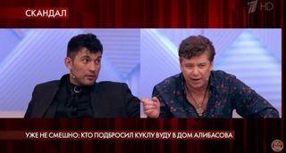 Скриншот: Сын Бари Алибасова и Валерий Юрин, фрагмент шоу «Пусть говорят»