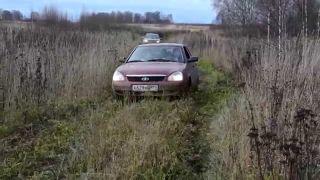 LADA Priora вчистом поле, источник: YouTube