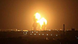Фото: Взрывы израильских ракет в Дамаске, Sohu