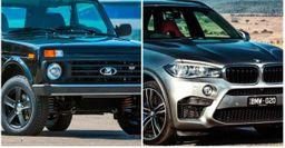 «Нива» завалила BMW X5M: Блогер устроил офф-роуд на воде