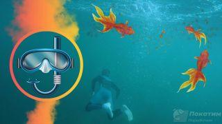 Рыбалка под водой. Автор изображения «Покатим Ру» Нина Беляева.