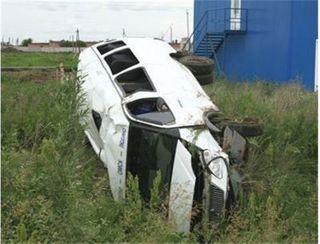 На северо-востоке Москвы перевернулась полицейская «Газель»
