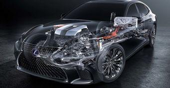 Появились подробности о гибридном двигателе нового Lexus LS 500h