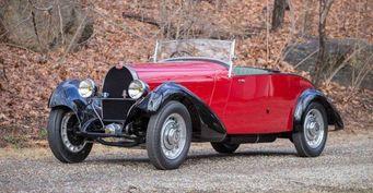Bugatti Type 49 Roadster 1932 года выпуска уйдёт с молотка