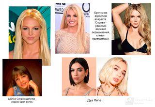 Фото: зарубежные певицы и их цвет волос. Автор «Покатим» Ольга Калинцева