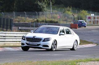 Первые «шпионские» фотографии Mercedes-Benz S-Class появились в Интернете