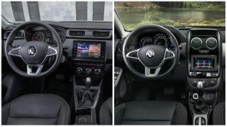 Фото: Салон слева— Renault Arkana, справа— Renault Duster, источник: Renault