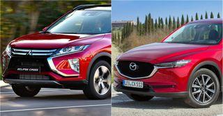 Фото: экстерьер Mitsubishi Eclipse Cross и Mazda CX-5, источник: Mazda, Mitsubishi