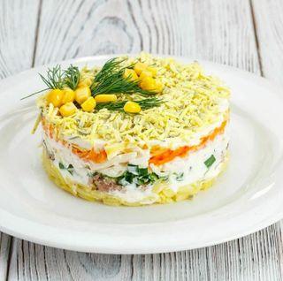 Готовый салат Мимоза\Источник: Яндекс.Дзен Просто Космос