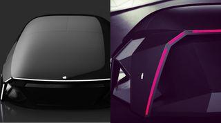 Apple Car спереди исзади. Рендер: Instagram @alicamdesign