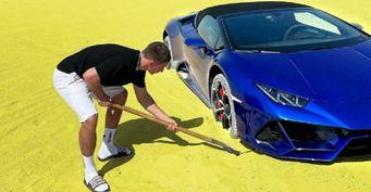 Угробил синий Lamborghini: Михаил Литвин встрял на500 тысяч из-за Huracan за28млн рублей