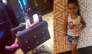 5-летняя дочь Ксении Бородиной опять проводит время в салонах красоты