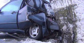 Водитель Mercedes  врезался в дерево под Зеленоградском
