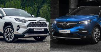 Лидер против новичка: Toyota RAV4 иOpel Grandland Xстолкнулись всравнении
