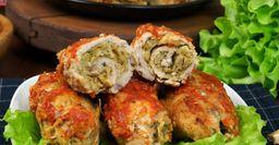 Для духовки и мангала: Куриный рулет в томатно-чесночном соусе