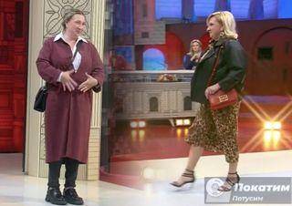 Образ Татьяны до преображения (слева) и после (справа). Стилисты «Модного приговора» прибавили возраст 32-летней героине. Фото автора «Покатим»