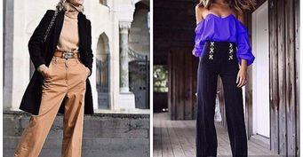 Модные брюки-трубы вместо устаревших джинс: 5 идей на осень 2020