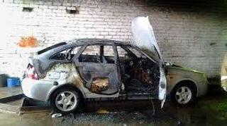 Вследствие ДТП в Воронежской области  сгорели две «Лады»