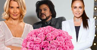 Знаменитые девушки иКиркоров похвастались роскошными букетами вчесть 8марта