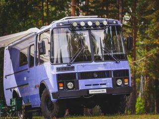 Автодом набазе ПАЗ-3206, источник фото: канал «Автоуслуги»