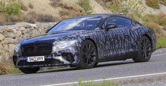 Опубликованы свежие шпиоские снимки нового Bentley Continental GT