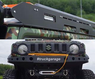 Самодельный багажник ибампер слебёдкой. Кадры: YouTube-канал Truck Garage