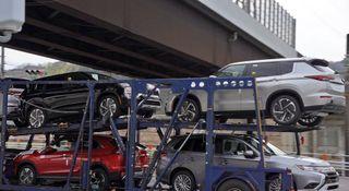 Окраски нового Mitsubishi Outlander. Фото: «РустамКолор, ВКонтакте»