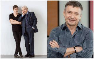 Олег Табаков с сыновьями Павлом и Антоном. Фото: rustars.tv, kino-teatr.ru