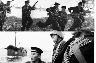 С моря на сушу, в бой. Источники фото: pikabu.ru, pinimg.com