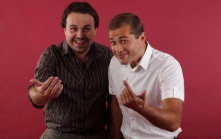 Молодые Атон Лирник и Андрей Молочный Фото: comedyclub.ru