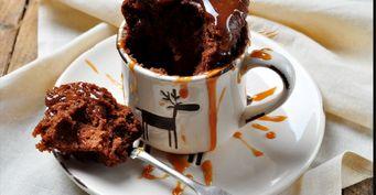 Шоколадный кекс вкружке: Готовим вмикроволновке за5 минут
