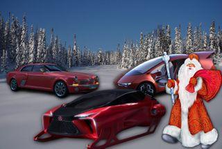 Автомобили для Деда Мороза иLexus Санта-Клауса. Изображение: портал Pokatim.ru