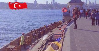 Штраф за шелуху. На набережной Стамбула запретили семечки и орехи