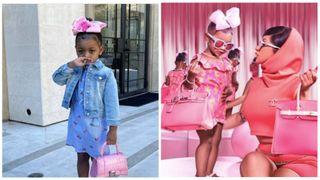 Фото: 2-летняя дочь Карди Би Калче в брендовой одежде. Источник: коллаж «Покатим!»