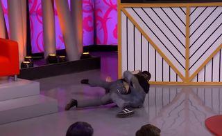 Один изкадров шоу «Мужское/женское», которое Гарик использовал для шуток / Фото: YouTube / Первый канал