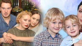Семья актрисы: слева дочь Елизавета исын Филипп, справа внуки Ваня иГоша.