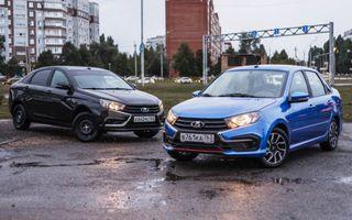 Фото: LADA Vesta— слева, LADA Granta Drine Active— справа, источник: wroom.ru