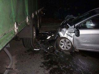 На Московском шоссе столкнулись грузовик и две легковушки