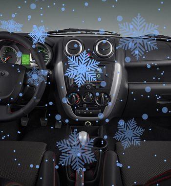 Снег изпечки наPriora 3: Россиянка засняла «новогодний подарок» отстарой LADA