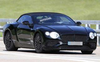 Кабриолет Bentley Continental GT Convertible сфотографирован на тестах