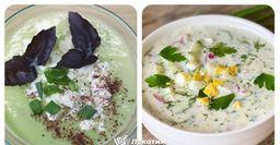 Холодник с кабачком и суп с редисом и мятой. Полноценный обед в летний зной
