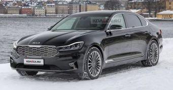 Фары отBMW, «корма» отLogan: Рендеры нового KIA K900 оценили водители